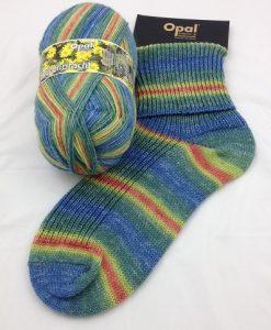 Opal Blutenpracht (Flower Blossom) 9112 Husarenkopfchen (Zinnia) sock / glove knitting yarn