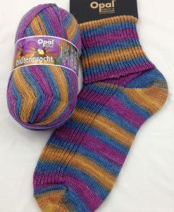 Opal Blutenpracht (Flower Blossom) 9113 Stiefmutterchen (Pansy) sock / glove knitting yarn