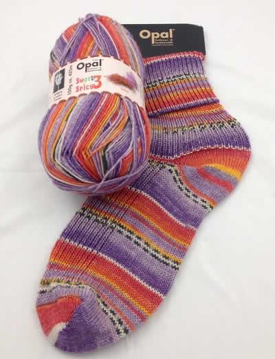 Opal Sweet and Spicy 3 9121 - Saffron sock / glove knitting yarn