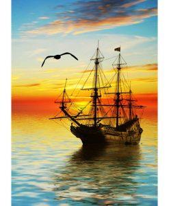 Opal Sunrise 9440 Mächtiger Horizont (Powerful Horizon) 4-ply sock / glove knitting yarn