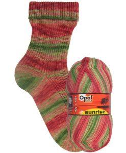 Opal Sunrise 9442 Feuerroter Sonnenball (Fire Red Sunball) 4-ply sock / glove knitting yarn