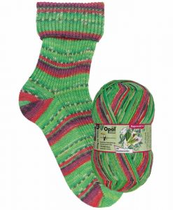 Opal Rainforest 14 9620 Die Gemüserowdys (Vegetable Vandal) 4-ply sock / glove knitting yarn