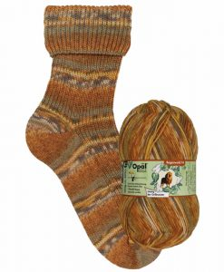Opal Rainforest 14 XIV 9624 Georg der Grillmeister (the grill master) 4-ply sock / glove knitting yarn