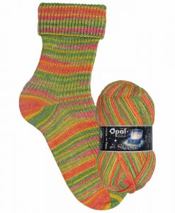 Opal Lucky mit Silbereffekt (with Silver Effect) 9480 Goldig (Cute) 4-ply sock / glove knitting yarn