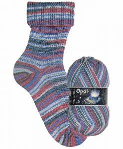 Opal Lucky mit Silbereffekt (with Silver Effect) 9481 Malerisch (Picturesque) 4-ply sock / glove knitting yarn