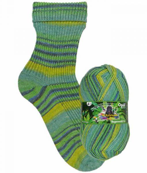 Opal Rainforest 16 XVI 9901 Quasselstrippen (The Chatterboxes) 4-ply sock / glove knitting yarn