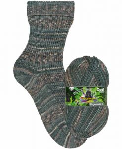 Opal Rainforest 16 XVI 9906 Der Checker (The Checker) 4-ply sock / glove knitting yarn